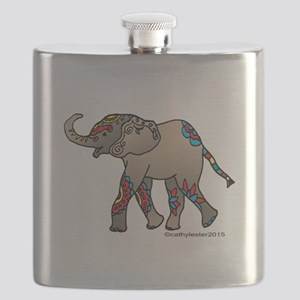 Zentangle Elephant Flask