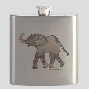 Zentangle Elephant Flask