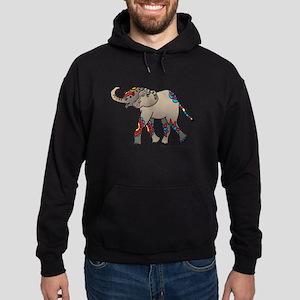 Zentangle Elephant Hoodie (dark)