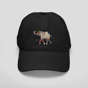 Zentangle Elephant Black Cap
