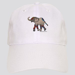Zentangle Elephant Cap