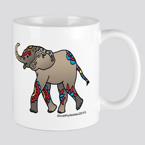 Zentangle Elephant Mug