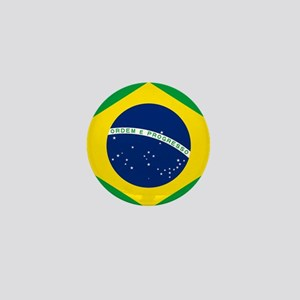 Brazil Flag Mini Button