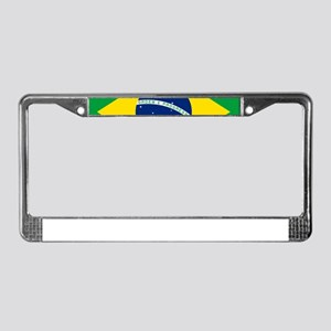 Brazil Flag License Plate Frame