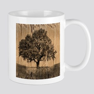 cardboard texture oak tree Mugs