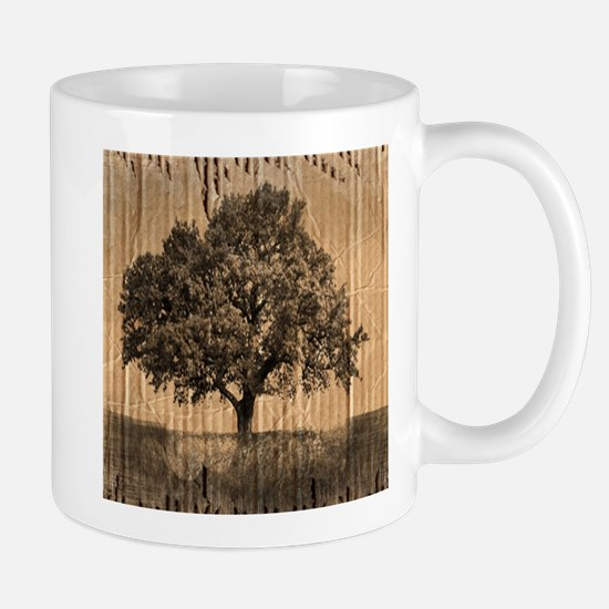 cardboard texture oak tree Mugs