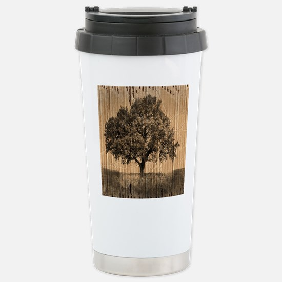 cardboard texture oak t Stainless Steel Travel Mug