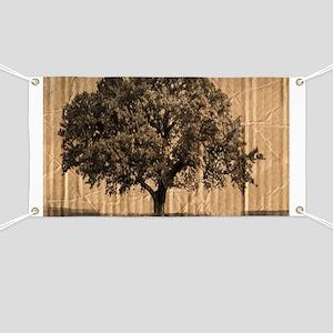 cardboard texture oak tree Banner