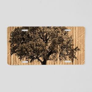 cardboard texture oak tree Aluminum License Plate