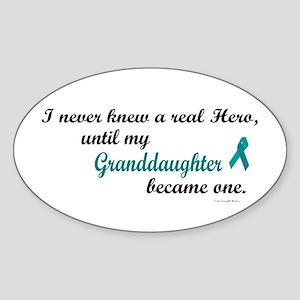 Never Knew A Hero OC (Granddaughter) Sticker (Oval