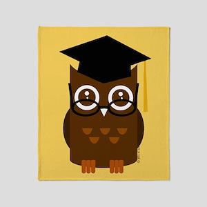 Graduation Owl Throw Blanket