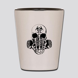 Biohazard Zombie Skull Fuck U Shot Glass