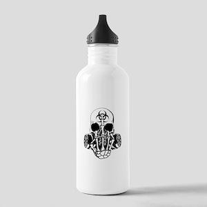 Biohazard Zombie Skull Fuck U Water Bottle