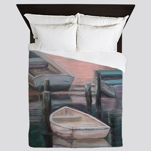 LIGHTHOUSE BOATS II Queen Duvet
