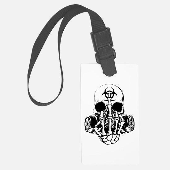 Biohazard Zombie Skull Fuck U Luggage Tag