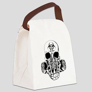 Biohazard Zombie Skull Fuck U Canvas Lunch Bag