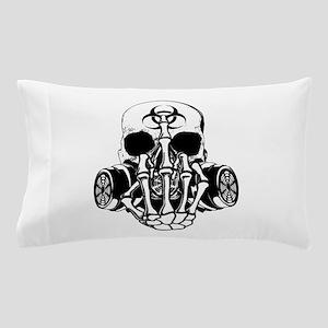 Biohazard Zombie Skull Fuck U Pillow Case