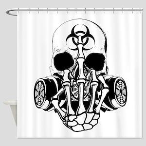 Biohazard Zombie Skull Fuck U Shower Curtain