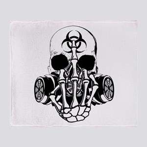Biohazard Zombie Skull Fuck U Throw Blanket