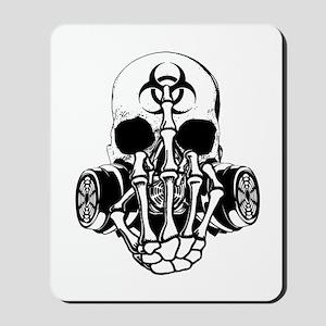 Biohazard Zombie Skull Fuck U Mousepad