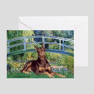 Bridge / Doberman Greeting Card