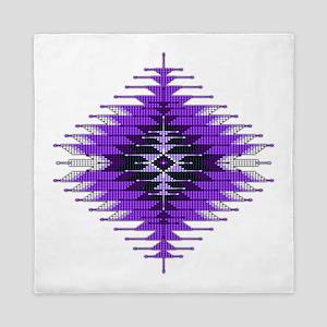 Native Style Purple Sunburst Queen Duvet