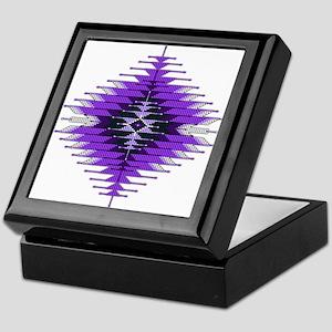 Native Style Purple Sunburst Keepsake Box