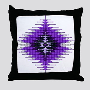 Native Style Purple Sunburst Throw Pillow