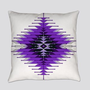 Native Style Purple Sunburst Everyday Pillow