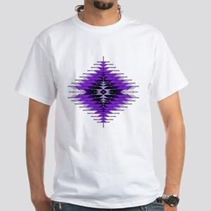Native Style Purple Sunburst White T-Shirt