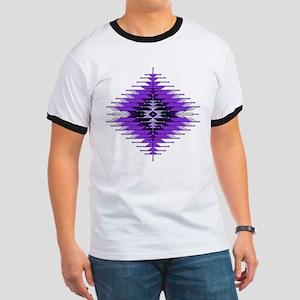 Native Style Purple Sunburst Ringer T