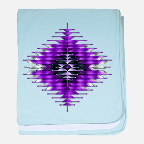 Native Style Purple Sunburst baby blanket