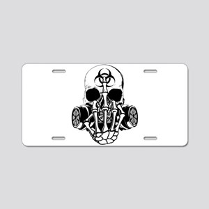 Biohazard Zombie Skull Fuck U Aluminum License Pla