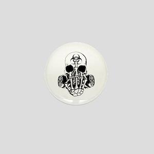 Biohazard Zombie Skull Fuck U Mini Button