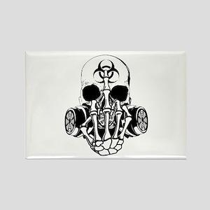 Biohazard Zombie Skull Fuck U Magnets