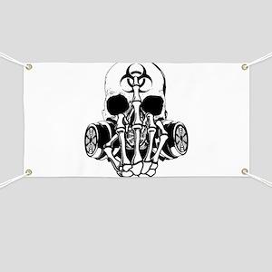 Biohazard Zombie Skull Fuck U Banner