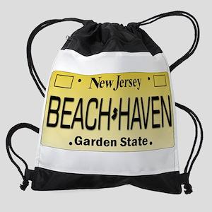 Beach Haven NJ Tag Giftware Drawstring Bag