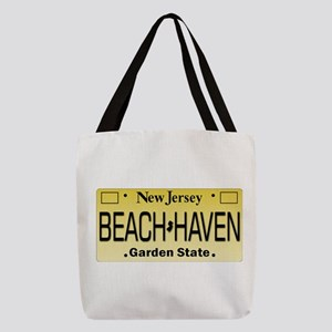 Beach Haven NJ Tag Giftware Polyester Tote Bag