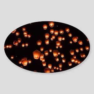 Sky Lanterns Sticker