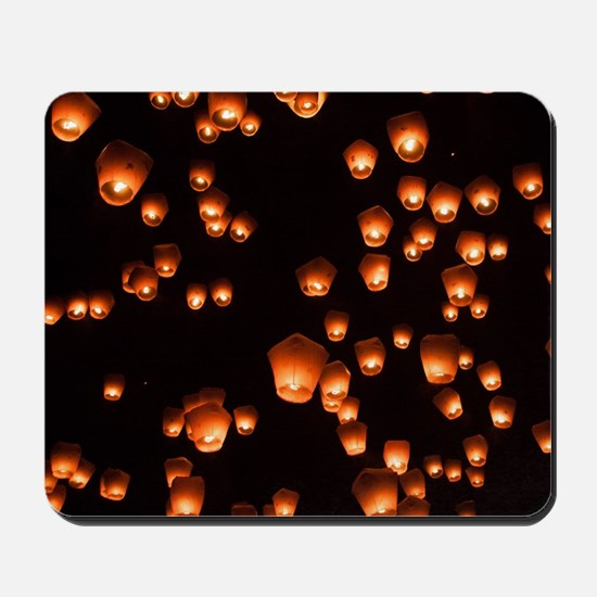 Sky Lanterns Mousepad