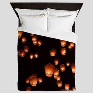 Sky Lanterns Queen Duvet
