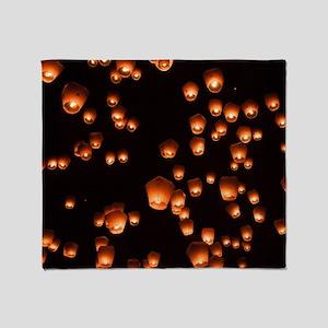 Sky Lanterns Throw Blanket