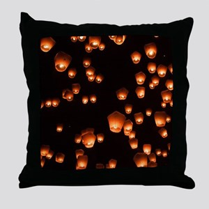 Sky Lanterns Throw Pillow