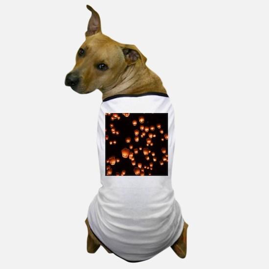 Sky Lanterns Dog T-Shirt