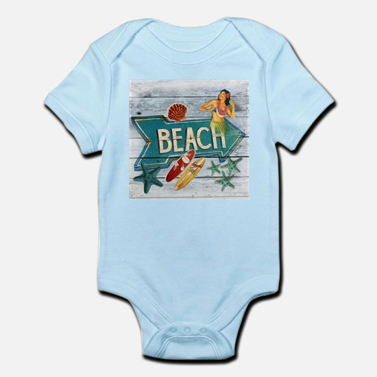 hipster surfer hawaii beach Body Suit