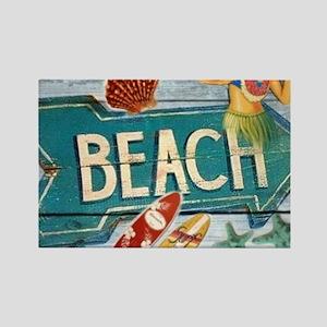 surf board hawaii beach Magnets