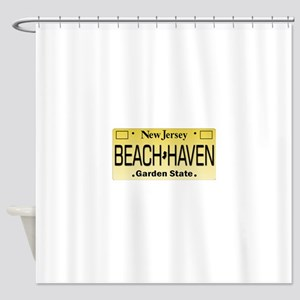 Beach Haven NJ Tag Giftware Shower Curtain