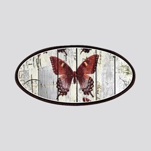 shabby chic french butterfly Patch