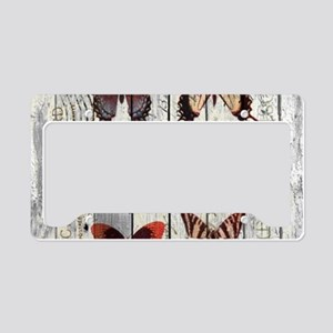 shabby chic french butterfly License Plate Holder