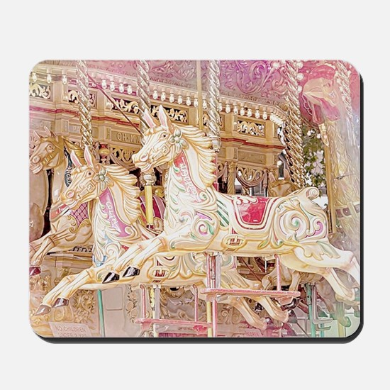 Merry-go-round pink Mousepad